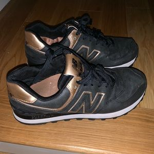 New Balance Charcoal Grey and Rose Gold Sneaker